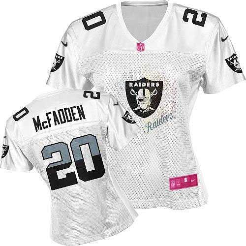 cbc302ae1 Women s Nike Oakland Raiders 20 Darren McFadden Limited White 2012 Fem Fan NFL  Jersey