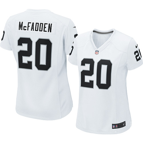7d3fabb8 Women's Nike Oakland Raiders 20 Darren McFadden Limited White NFL Jersey