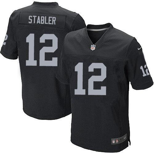 Men s Nike Oakland Raiders 12 Kenny Stabler Elite Black Team Color NFL  Jersey dcbf57ef2