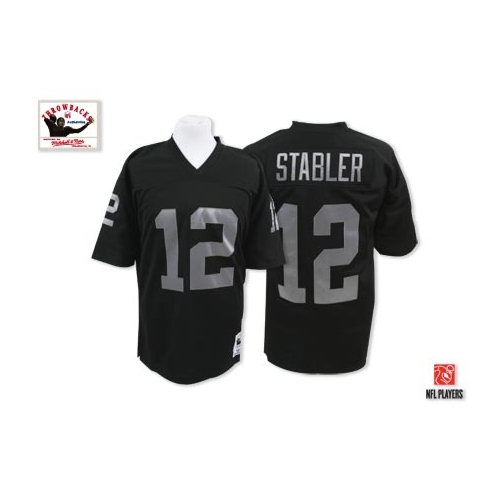 uk availability a3422 695f8 Mitchell and Ness Oakland Raiders 12 Kenny Stabler Black ...