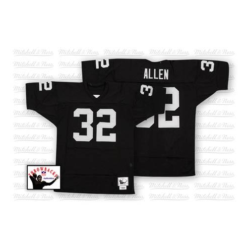 Mitchell and Ness Oakland Raiders 32 Marcus Allen Black Team Color Authentic  NFL Throwback Jersey 01618cca4