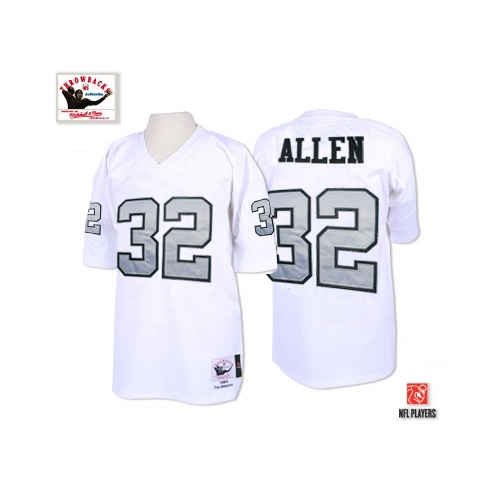 promo code 9f707 36341 Mitchell and Ness Oakland Raiders 32 Marcus Allen White with ...