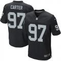 Men's Nike Oakland Raiders 97 Andre Carter Elite Black Team Color NFL Jersey