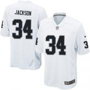 Youth Nike Oakland Raiders 34 Bo Jackson Elite White NFL Jersey