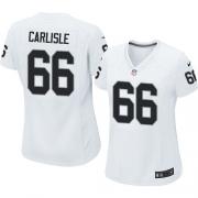 Women's Nike Oakland Raiders 66 Cooper Carlisle Elite White NFL Jersey