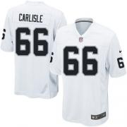 Youth Nike Oakland Raiders 66 Cooper Carlisle Elite White NFL Jersey
