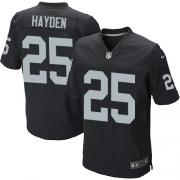 Men's Nike Oakland Raiders 25 D.J.Hayden Elite Black Team Color NFL Jersey