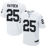 Men's Nike Oakland Raiders 25 D.J.Hayden Elite White NFL Jersey