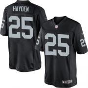 Men's Nike Oakland Raiders 25 D.J.Hayden Limited Black Team Color NFL Jersey
