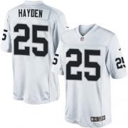Men's Nike Oakland Raiders 25 D.J.Hayden Limited White NFL Jersey