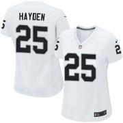 Women's Nike Oakland Raiders 25 D.J.Hayden Elite White NFL Jersey