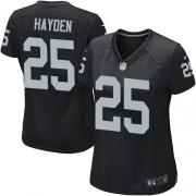 Women's Nike Oakland Raiders 25 D.J.Hayden Game Black Team Color NFL Jersey