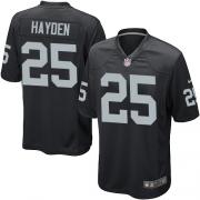 Youth Nike Oakland Raiders 25 D.J.Hayden Elite Black Team Color NFL Jersey