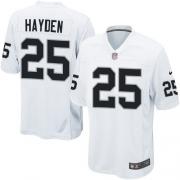 Youth Nike Oakland Raiders 25 D.J.Hayden Elite White NFL Jersey