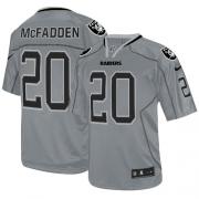 Men's Nike Oakland Raiders 20 Darren McFadden Elite Lights Out Grey NFL Jersey