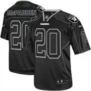 Men's Nike Oakland Raiders 20 Darren McFadden Game Lights Out Black NFL Jersey