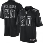 Men's Nike Oakland Raiders 20 Darren McFadden Elite Black Impact NFL Jersey
