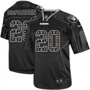 Men's Nike Oakland Raiders 20 Darren McFadden Game New Lights Out Black NFL Jersey