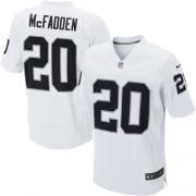 Men's Nike Oakland Raiders 20 Darren McFadden Elite White NFL Jersey