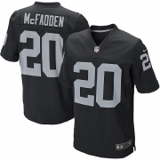 Men's Nike Oakland Raiders 20 Darren McFadden Elite Black Team Color NFL Jersey
