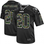 Men's Nike Oakland Raiders 20 Darren McFadden Game Black Camo Fashion NFL Jersey