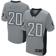 Men's Nike Oakland Raiders 20 Darren McFadden Elite Grey Shadow NFL Jersey