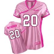 Nike Oakland Raiders 20 Darren McFadden Elite Pink Women's Be Luv'd NFL Jersey
