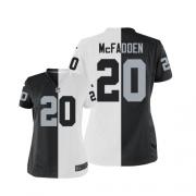 Women's Nike Oakland Raiders 20 Darren McFadden Elite Team/Road Two Tone NFL Jersey