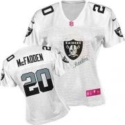 Women's Nike Oakland Raiders 20 Darren McFadden Elite White 2012 Fem Fan NFL Jersey