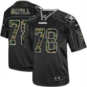 Men's Nike Oakland Raiders 78 Art Shell Elite Black Camo Fashion NFL Jersey