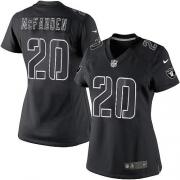 Women's Nike Oakland Raiders 20 Darren McFadden Elite Black Impact NFL Jersey