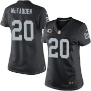 Women's Nike Oakland Raiders 20 Darren McFadden Elite Black Team Color C Patch NFL Jersey