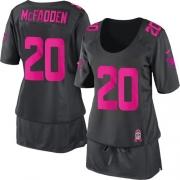 Women's Nike Oakland Raiders 20 Darren McFadden Elite Dark Grey Breast Cancer Awareness NFL Jersey
