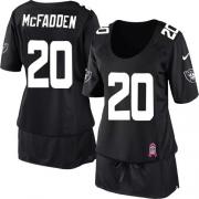 Women's Nike Oakland Raiders 20 Darren McFadden Game Black Breast Cancer Awareness NFL Jersey