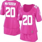 Women's Nike Oakland Raiders 20 Darren McFadden Elite Pink Breast Cancer Awareness NFL Jersey