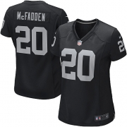 Women's Nike Oakland Raiders 20 Darren McFadden Game Black Team Color NFL Jersey