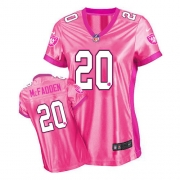 Women's Nike Oakland Raiders 20 Darren McFadden Game Pink New Women's Be Luv'd NFL Jersey