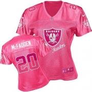 Women's Nike Oakland Raiders 20 Darren McFadden Limited Pink 2012 Fem Fan NFL Jersey