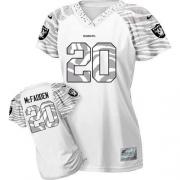 Women's Nike Oakland Raiders 20 Darren McFadden Limited White 2012 Zebra Field Flirt NFL Jersey