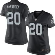 Women's Nike Oakland Raiders 20 Darren McFadden Limited Black Team Color NFL Jersey