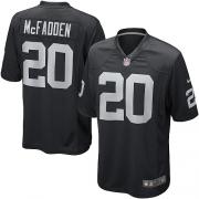 Youth Nike Oakland Raiders 20 Darren McFadden Elite Black Team Color NFL Jersey