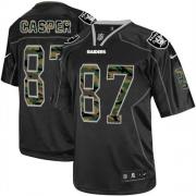Men's Nike Oakland Raiders 87 Dave Casper Elite Black Camo Fashion NFL Jersey