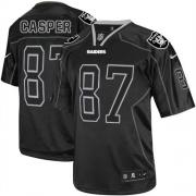 Men's Nike Oakland Raiders 87 Dave Casper Elite Lights Out Black NFL Jersey