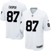 Men's Nike Oakland Raiders 87 Dave Casper Game White NFL Jersey