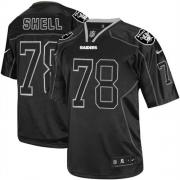 Men's Nike Oakland Raiders 78 Art Shell Elite Lights Out Black NFL Jersey