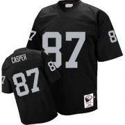 Mitchell and Ness Oakland Raiders 87 Dave Casper Black Authentic NFL Throwback Jersey