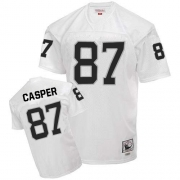 Mitchell and Ness Oakland Raiders 87 Dave Casper White Authentic NFL Throwback Jersey