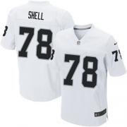 Men's Nike Oakland Raiders 78 Art Shell Elite White NFL Jersey