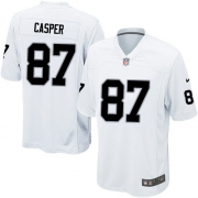 Youth Nike Oakland Raiders 87 Dave Casper Elite White NFL Jersey
