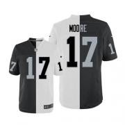 Men's Nike Oakland Raiders 17 Denarius Moore Elite Team/Road Two Tone NFL Jersey